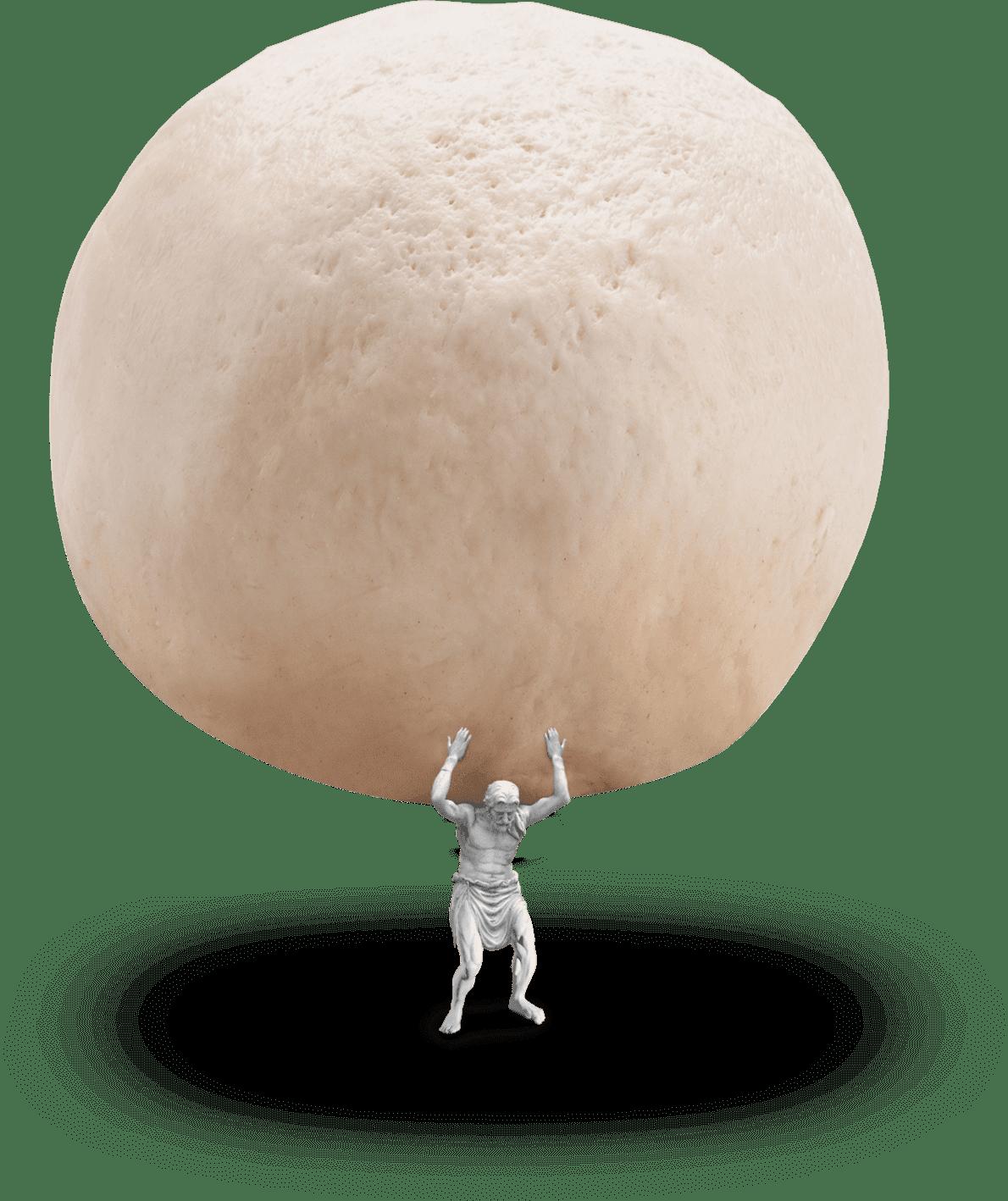 Holy Napoli Frozen Pizza Atlas Carrying Dough