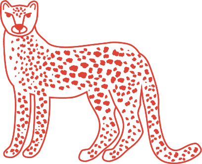 Holy Napoli frozen pizza leopard illustration
