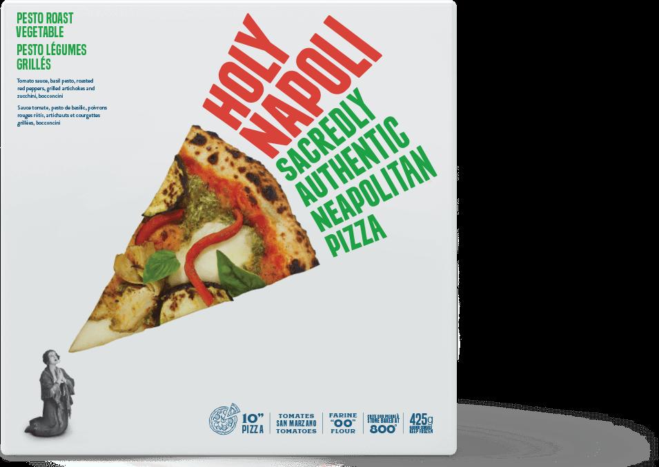 Holy Napoli Pesto Frozen Pizza Box
