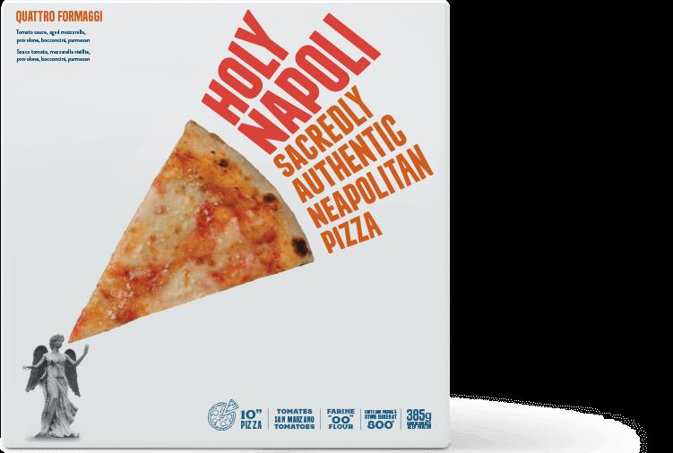 Holy Napoli Quattro Formaggi Frozen Pizza Box
