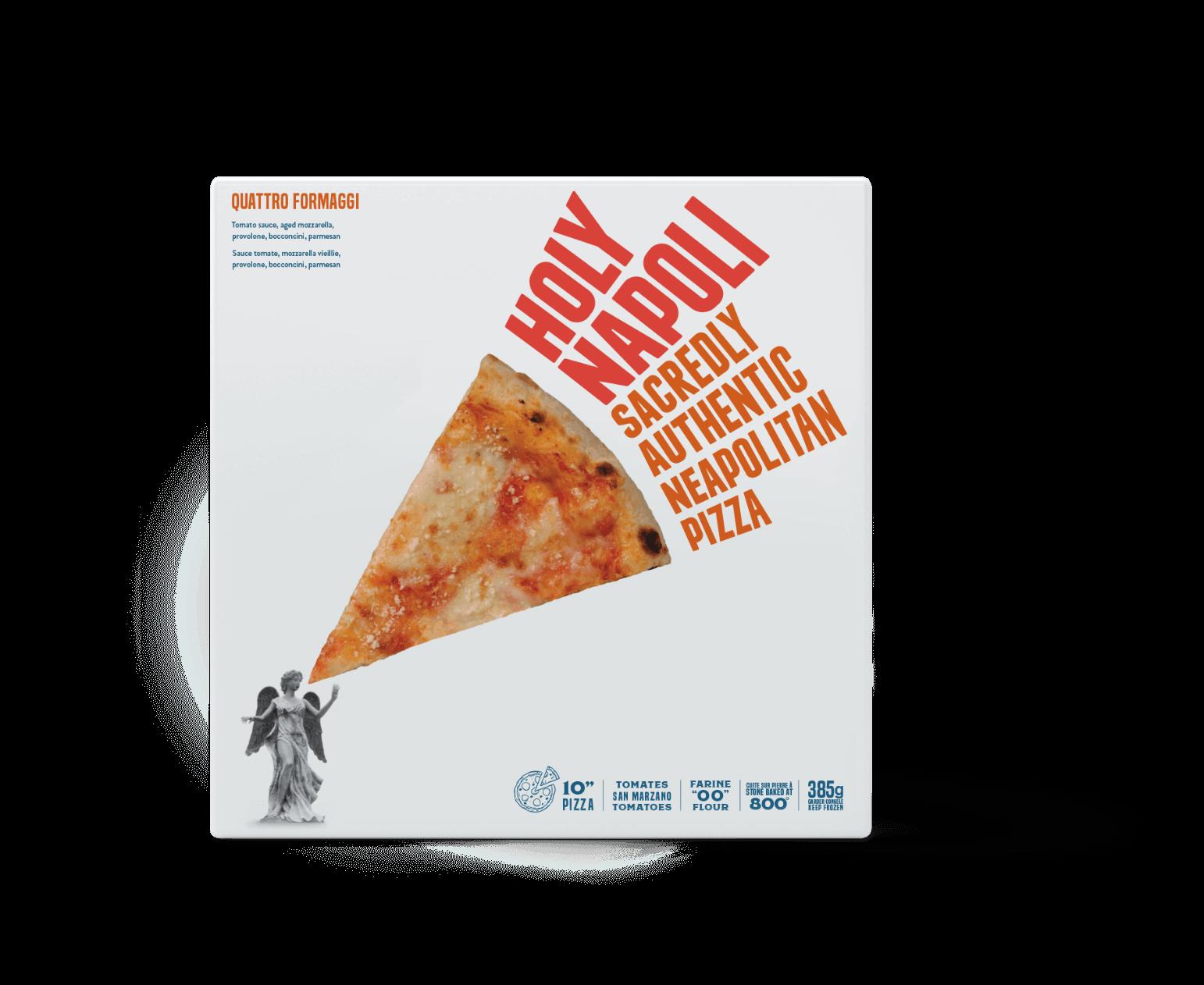 Holy Napoli Quattro Formaggi frozen pizza